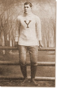 "The ""modern"" football uniform of the 1890s. Player William ""Pudge"" Heffelfinger of Yale helped bring ""science"" to the game of football. From American Football, by Walter Camp. 1891. Harper & Brothers. Available at Project Gutenberg."